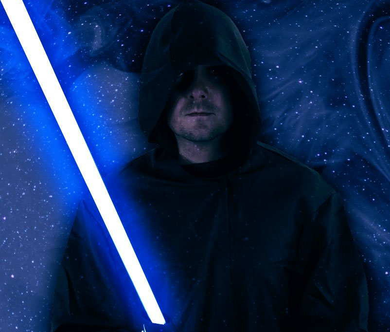 White Hat Jedi auf heller Seite der Macht